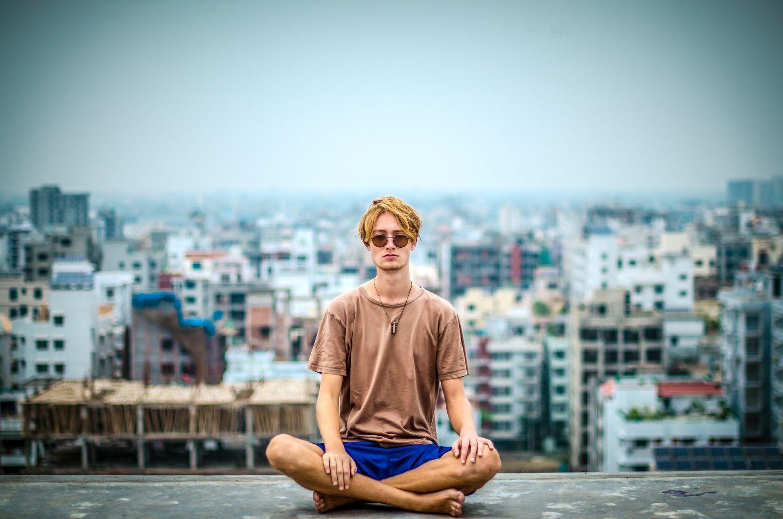 meditatierenden haltung